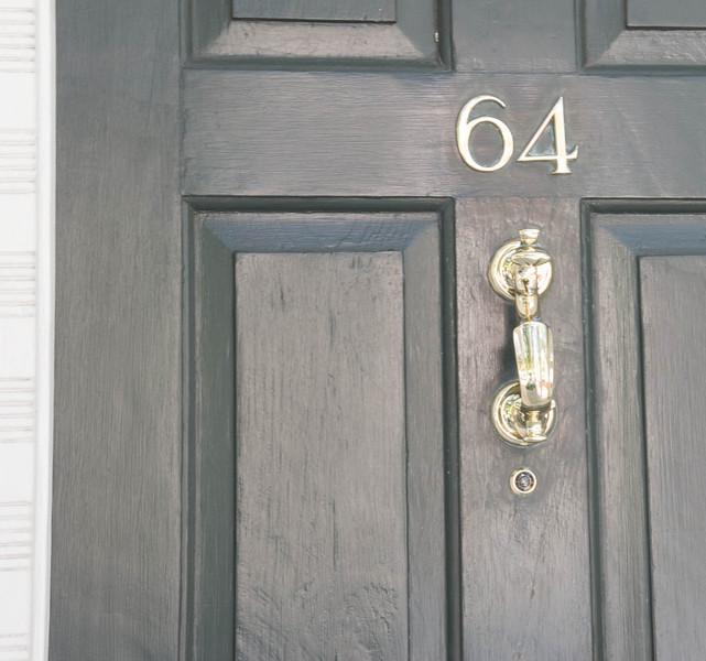 Interesting door knocker! Knock thrice!