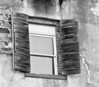 These are some real aged window shutters - B&W