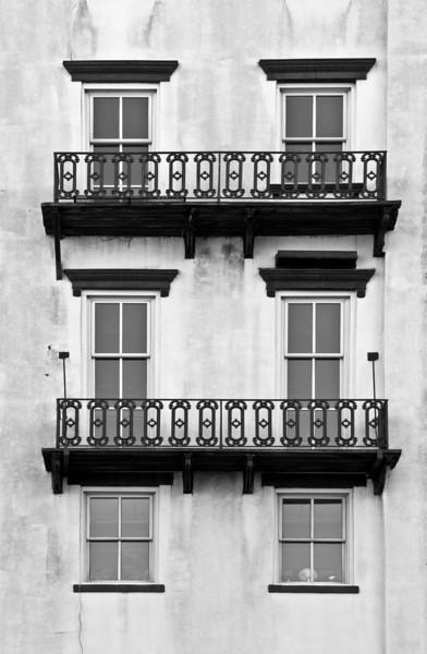 Rough-iron Window Decorations B&W