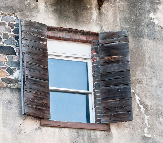 These are some real aged window shutters - Color