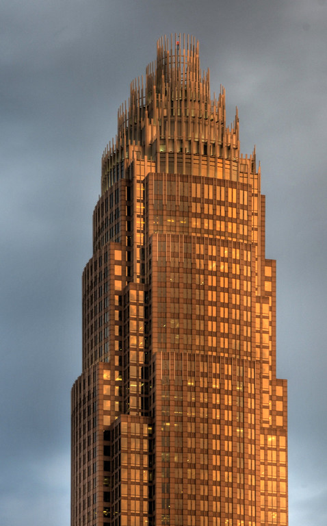 Bank of America Tower at sunset, Charlotte