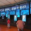 "Touch screen exhibit.  Monticello was pretty cool. I like the caption ""New Nation, New Ideas."""