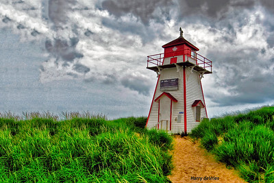 Covehead Lighthouse on north shore Prince Edward Island