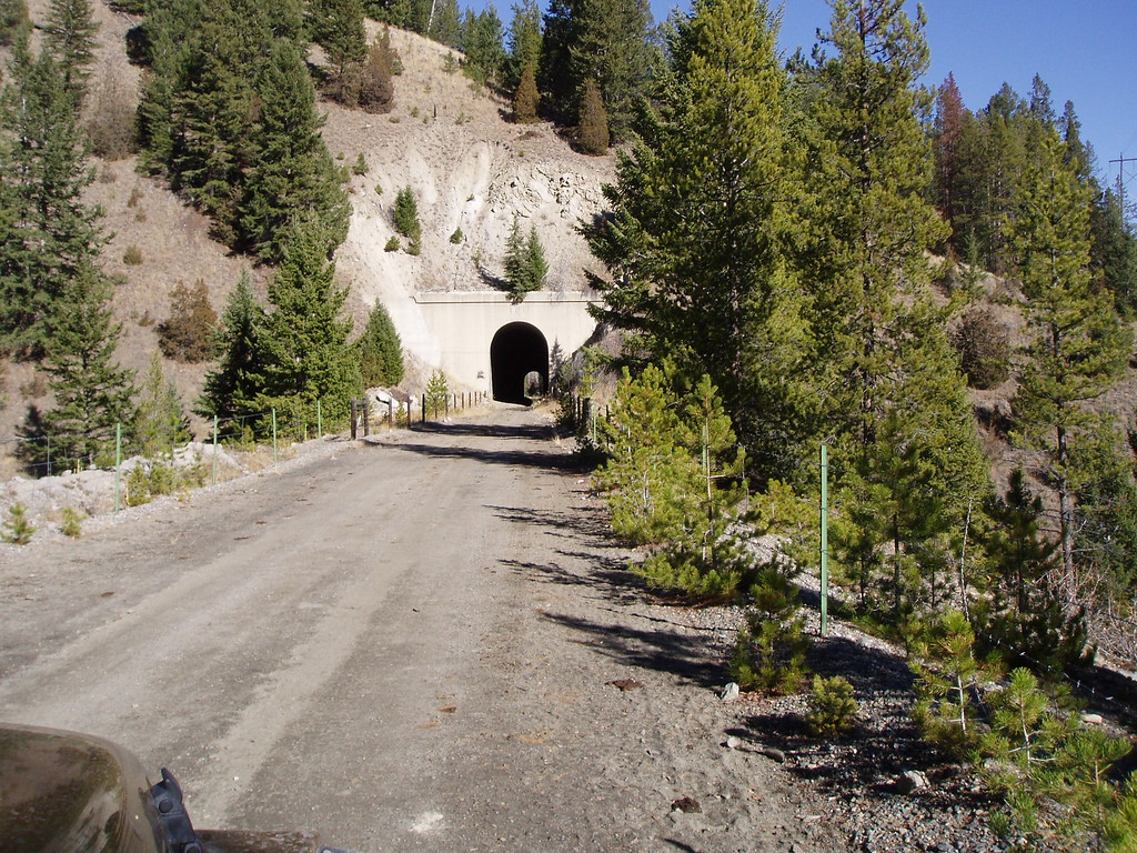 Abandoned railroad tunnel built in 1911 on the spur line between Helena and Butte.