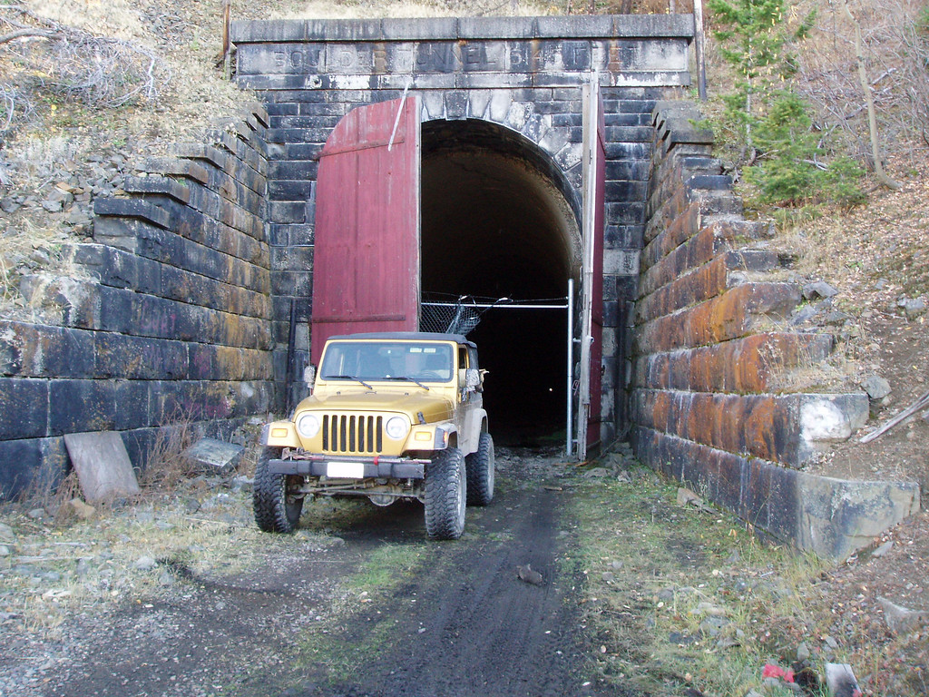 The abandoned Boulder Tunnel south of Wickes, Montana. 6,145 feet from one end to the other.