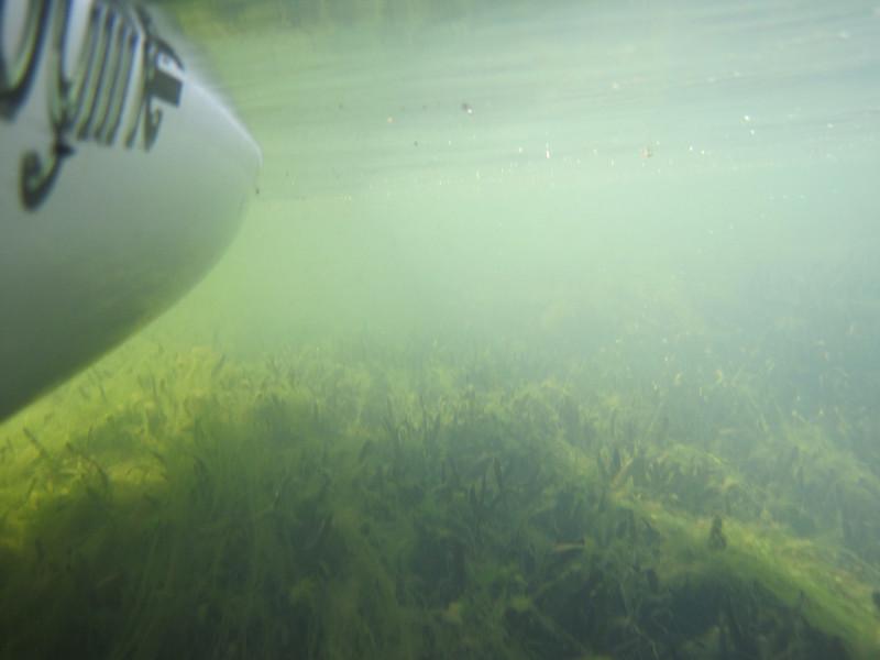 Bottom of the kayak hull view.......