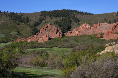Roxborough State Park. View from the Willow Creek Trail.