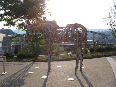 Horse sculpture in Chattanooga, Tennessee by Deborah Butterfield
