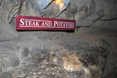 Steak and potatoes rock formation