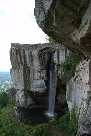 Lover's Leap and waterfall