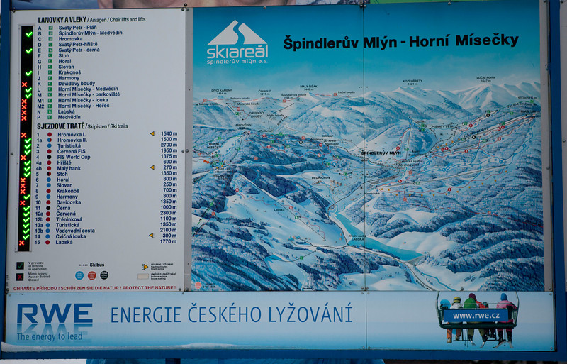 The map of Horni Misecki in Chech Sudety mountains