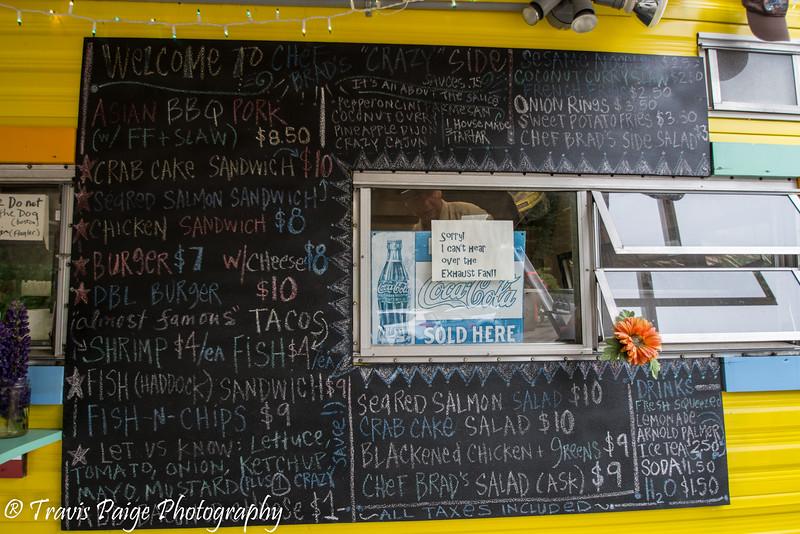 Chef Brad's Menu Board
