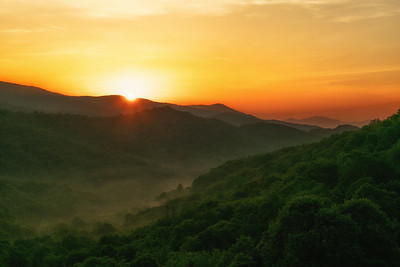 Daybreak in Nantahala