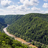 The New River below and down stream from the New River Gorge Bridge