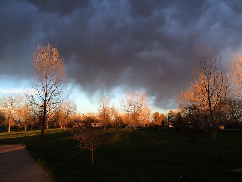 Dramatic Aurora sunset