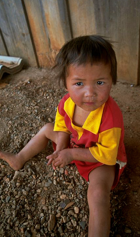 Hill tribe young girl in Chiang Dao, Thailand