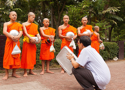 blessings from monks after receiving food