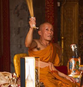 Wat Phrathad Doi Suthep Monk blessing