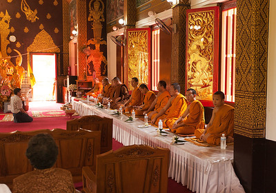 Wat Jed Wod initiation ceremony for a new Monk 2
