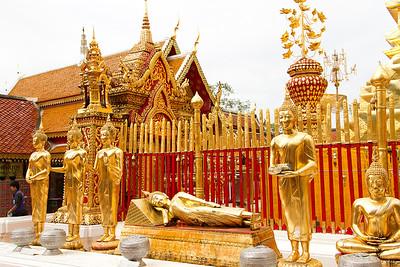 Wat Phrathad Doi Suthep reclining Buddha