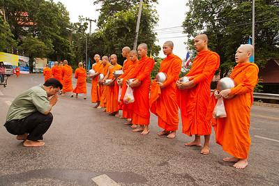 Monks giving blessings