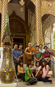 Wat Jed Wod Novice Monk and familey before initiation