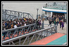 Crowd waiting to board Shanghai - Pudong ferry.