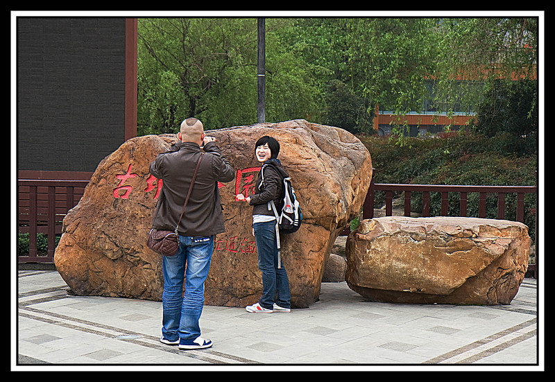 Chinese love to be photographed...