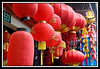 Chinese lanterns provide a splash of color in the Old Town...