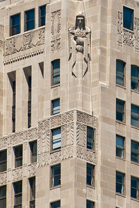 Detail from the Chicago Board of Trade building.