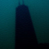 Title: Big John's Shadow<br /> Date: November 2010<br /> The shadow of the John Hancock Building in Lake Michigan.