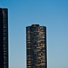 Title: Lake Side<br /> Date: November 2010<br /> Lake Side sky scrapers, right along the shore of Lake Michigan.