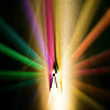 Title: Beauty of Light<br /> Date: November 2010<br /> A prism refracting light, demonstrating the different spectral colors of light.