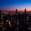 Title: Chicago at the Setting of the Sun<br /> Date: November 2010<br /> Looking south-west from the observation deck of the John Hancock Building.