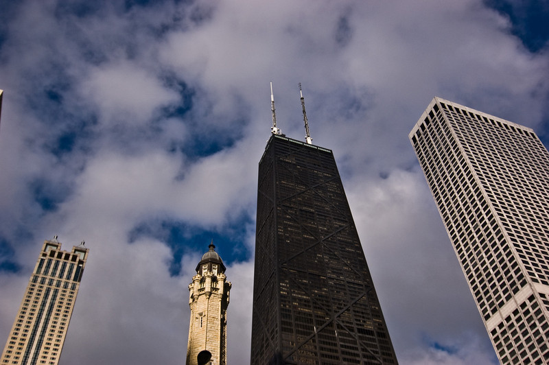 Title: Big John<br /> Date: November 2010<br /> The John Hancock Building, nicknamed Big John, in downtown Chicago.