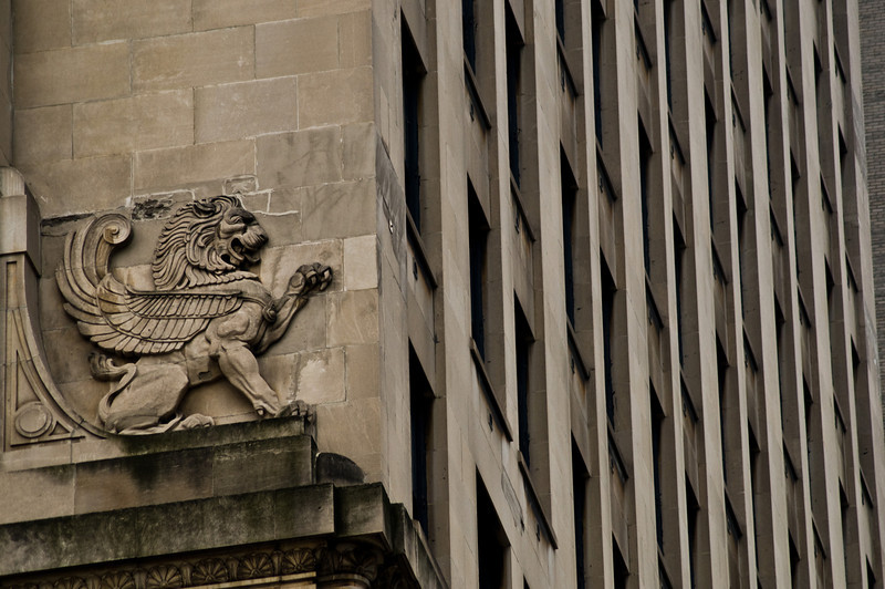 Title: Clawing at the Architecture<br /> Date: November 2010<br /> Downtown Chicago