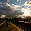 Title: Sitting in the Sun<br /> Date: November 2010<br /> 59th Street Station south of Chicago, to the west of Museum of Science and Industry.
