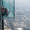 Title: Quite the Sight<br /> Date: November 2010<br /> Some kids play on the Skydeck ledges above Chicago.