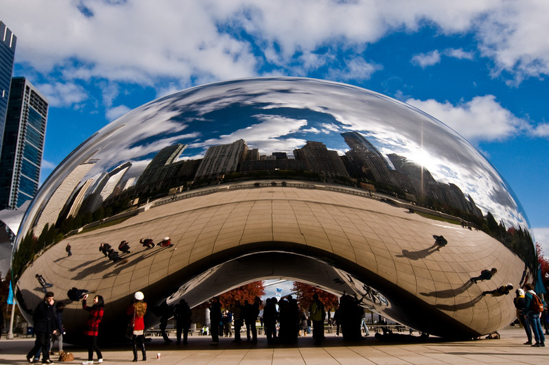 Title: Required Yet Awesome Picture<br /> Date: November 2010<br /> Cloud Gate sculpture