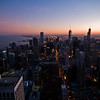 Title: Windy City Dusk<br /> Date: November 2010<br /> Looking south from the observation deck of the John Hancock Building.