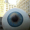 A giant eyeball in the Loop.  That's the Willis Tower in the background.  Yes, I said Willis Tower (#1).