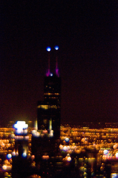 Title: Abstract Tower<br /> Date: November 2010<br /> Sears Tower (Willis Tower) at night.