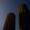 Title: Marina City<br /> Date: November 2010<br /> Marina City skyscrapers along the north side of the Chicago River.