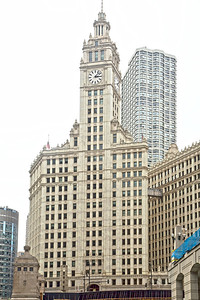 Our first view is the historic Wrigley Building.