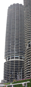 The iconic Marina City towers