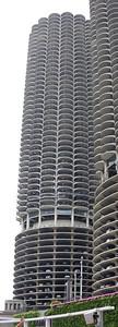 The iconic Marina City towers