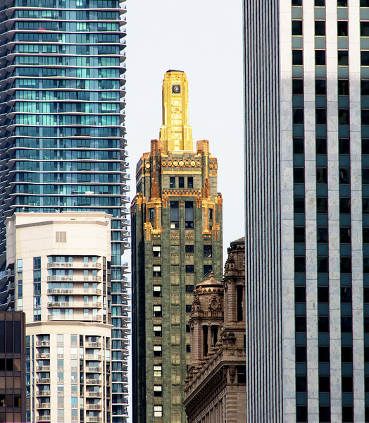 The Carbide and Carbon Building (across the street from the Hampton Inn)