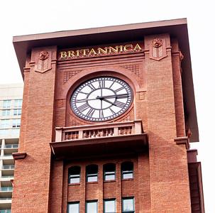 Clock tower of the Britannica building