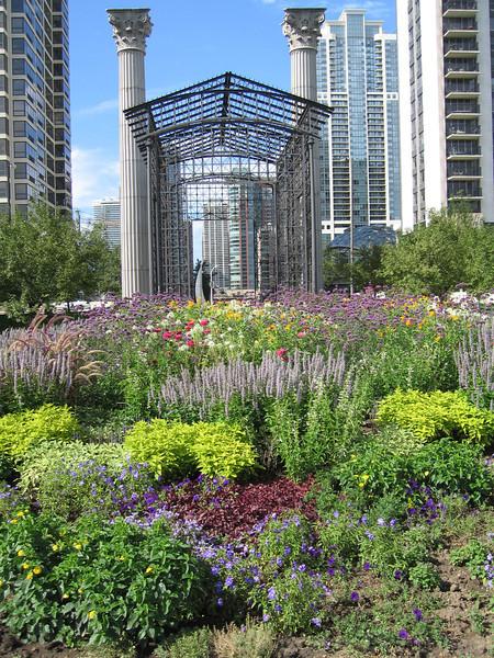 Flower garden in Grant Park