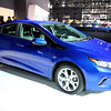 CAS59075<br /> <br /> The Volt's new, efficient propulsion system will offer a General Motors'-estimated total driving range of more than 400 miles and with regular charging, owners are expected to travel more than 1,000 miles on average between gas fill-ups.<br /> 2016 Volt highlights:<br /> •New two-motor drive unit is up to 12 percent more efficient and 100 pounds lighter (45 kg) than the first-generation drive unit<br /> •Two-motor design enables 19 percent stronger zero-to-30 mph acceleration <br /> •Battery capacity has increased to 18.4 kWh using 192 cells (96 fewer than current generation) with weight reduced by more than 20 pounds<br /> •Regen on Demand™ feature enables driver control of energy regeneration via a convenient paddle on the back of the steering wheel  <br /> •New 1.5L range extender, designed to use regular unleaded fuel, offers a combined GM-estimated fuel efficiency of 41 mpg (EPA estimate pending)<br /> •Stronger body structure and quieter ride<br /> •New braking system with improved capability and blended Regen feel<br /> •New, five-passenger seating with available rear heated seats <br /> •Location-based charging capability <br /> •120V portable cord set has a simpler, compact design with more convenient storage location <br /> •Available illuminated charge port<br /> <br /> The 2016 Volt goes on sale in the second half of 2015.